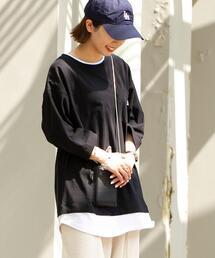 【WEB限定追加】UVカット対応USAコットンレイヤード7分袖Tシャツ
