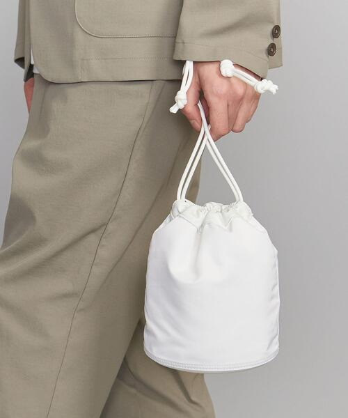 <allery(アレリー)> POUCH S WHITE/巾着ポーチ
