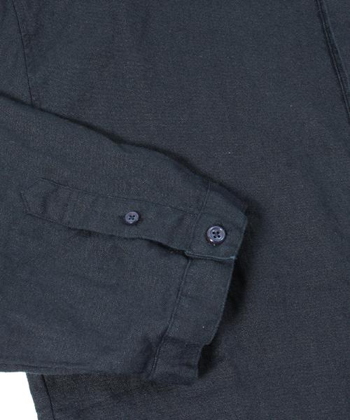 ms3003-Linen No-collar Pullover 3/4 Shirt ノーカラープルオーバーシャツ