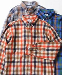 ウインターリネンチェックボタンダウンネルシャツ