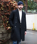 MR.OLIVE(ミスターオリーブ)の「LIGHT MELTON / PEAKED LAPEL DOUBLE CHESTER COAT(チェスターコート)」