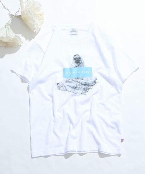 【先行販売】PUG IN THE COEN フォトプリントTシャツ