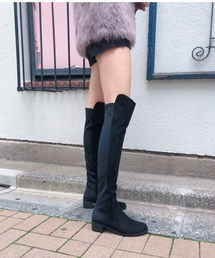 REZOY(リゾイ)の【REZOY】異素材コンビストレッチロングブーツ(ブーツ)