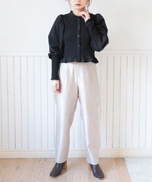 jacquard straight pantsアイボリー