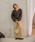 CHAPTER L, LONDON(チャプターエルロンドン)の「キーネックニットトップス(リブ素材ボリュームスリーブベイクドカラー長袖プルオーバー)(ニット/セーター)」 詳細画像