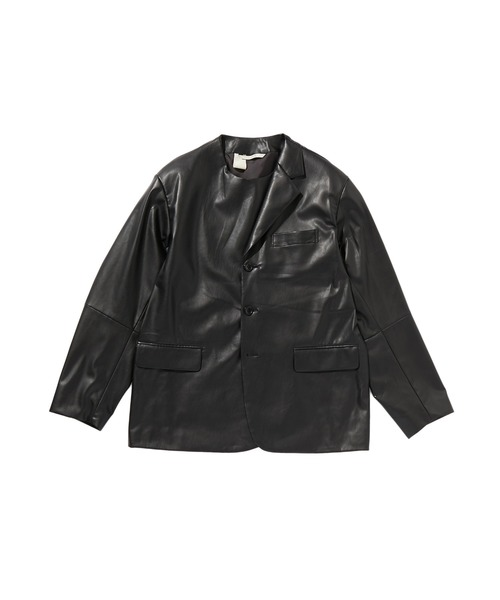 SPRING2020 SHINTHETIC LEATHER JACKET