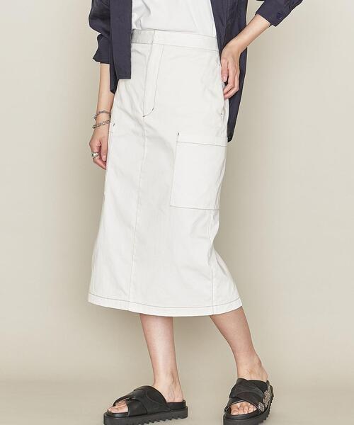<ASTRAET(アストラット)>サイドポケット タイトスカート WHITE