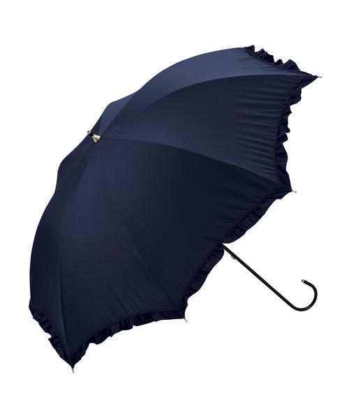 Wpc.(ダブルピーシー)の「日傘 晴雨兼用 遮光クラシックフリル(長傘)」|ネイビー
