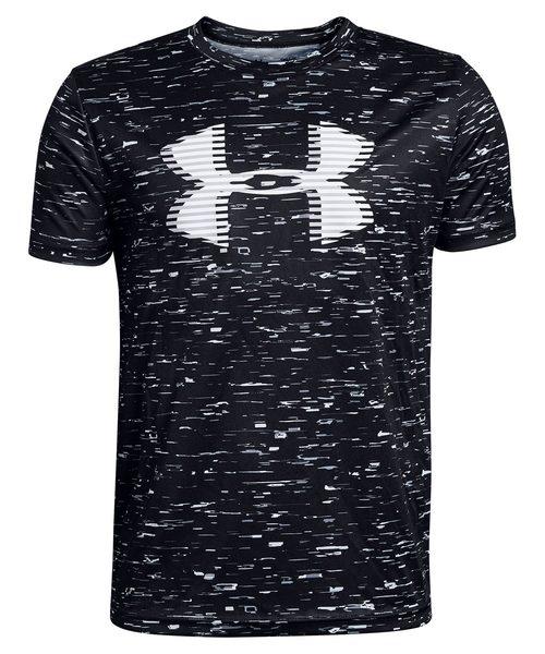 UNDER ARMOUR(アンダーアーマー)の「ボーイズ トレーニングT半袖シャツ /  テックビッグロゴプリント(Tシャツ/カットソー)」 ブラック×ホワイト