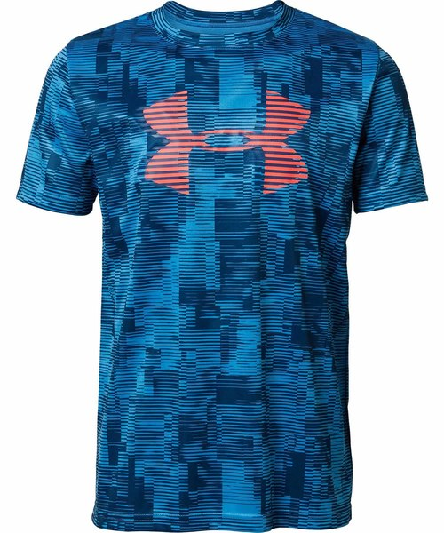 UNDER ARMOUR(アンダーアーマー)の「ボーイズ トレーニングT半袖シャツ /  テックビッグロゴプリント(Tシャツ/カットソー)」 ブルー系その他