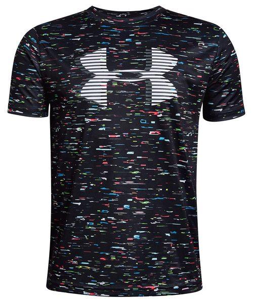 UNDER ARMOUR(アンダーアーマー)の「ボーイズ トレーニングT半袖シャツ /  テックビッグロゴプリント(Tシャツ/カットソー)」 ブラック