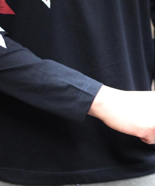 星柄 ロングスリーブ Tシャツ