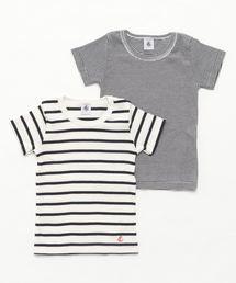 a0c846df475bd PETIT BATEAU ENFANT(プチバトーアンファン)の「マリニエール&ミラレ半袖Tシャツ