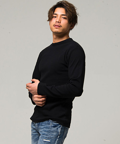 【3ネックタイプから選べる】スパンテレコ長袖Tシャツ / CAJP19-02