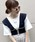 archives(アルシーヴ)の「配色ビスチェ×半袖TシャツSET(Tシャツ/カットソー)」|ダークブルー