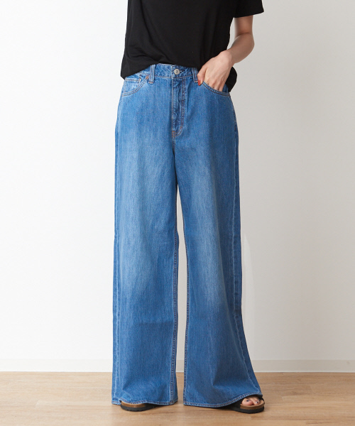collex(コレックス)の古着「加工デニムパンツ(デニムパンツ)」 ブルー