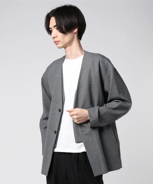 SPRING2020 COLLARLESS JACKET
