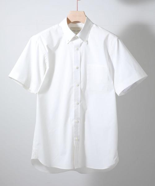 【WEB限定】PUBLIC SHIRTS ボタンダウン半袖シャツ(クールビズ&セットアップのインナーに最適!)