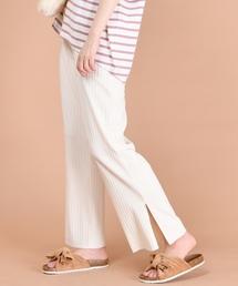 natural couture(ナチュラルクチュール)のワイドリブパンツ(パンツ)