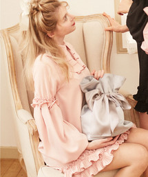 Maison de FLEUR(メゾンドフルール)の巾着リボンリュック(バックパック/リュック)