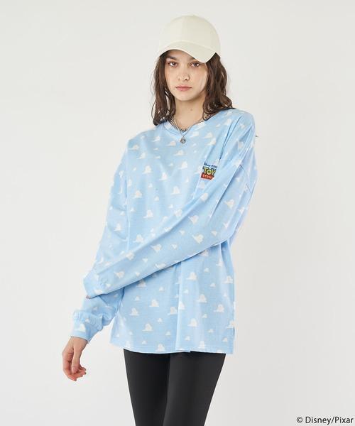 【Disney&Pixar/ディズニー&ピクサー/トイ・ストーリー】雲柄ロングTシャツ