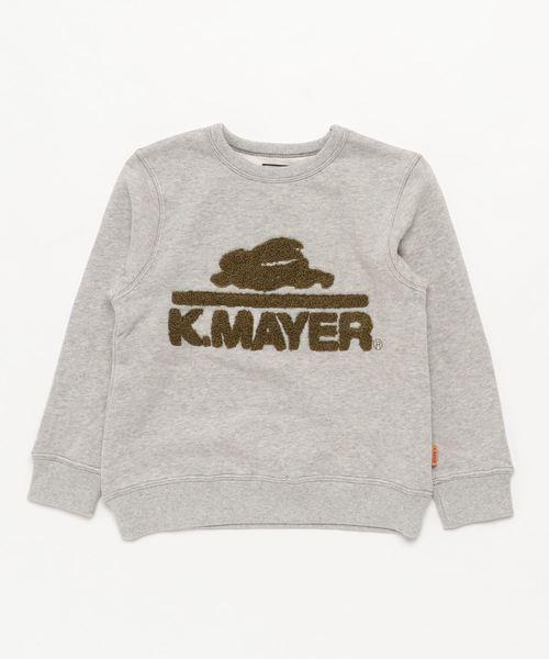 サガラ刺繍スウェットクルー【K.MAYER