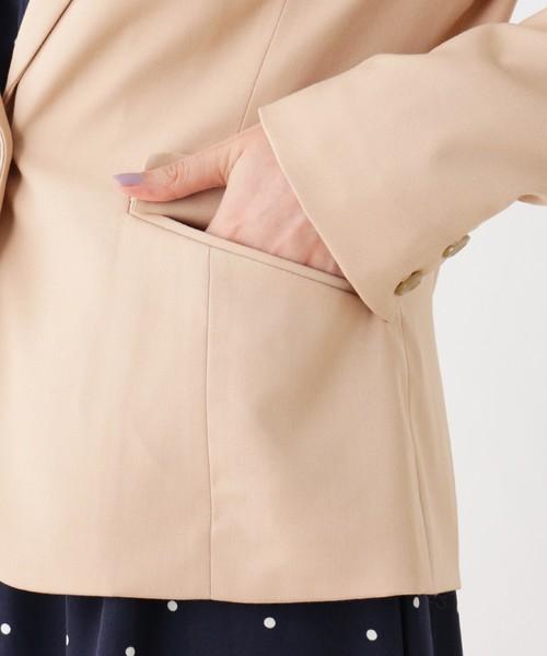 【防シワ】【洗える】テーラードジャケット