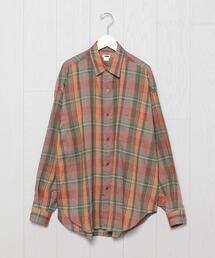 <H>LINEN CHECK SHIRT/シャツ