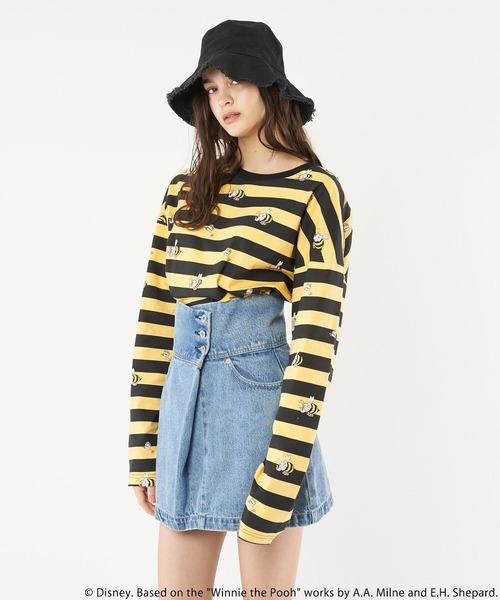 【Disney/ディズニー/くまのプーさん/ズオウ】ロングTシャツ