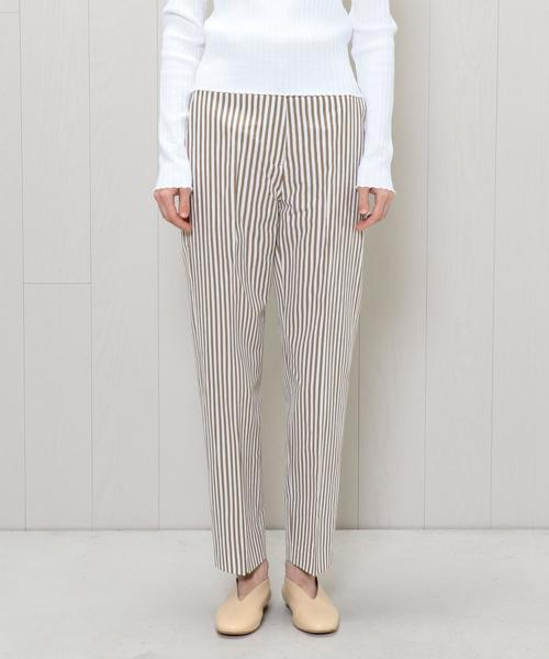 <H>STRIPE WIDE TAPERED PANTS/パンツ