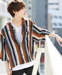 kutir(クティール)の【ビックシルエット】 パイピングオープンカラーシャツ(シャツ/ブラウス)