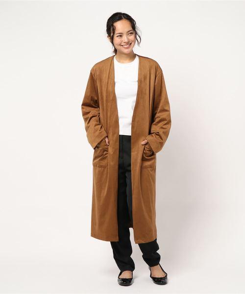 魅力的な価格 エコスエードノーカラーコーディガン(ノーカラージャケット) THE IN IN TITE IN THE STORE(ティテ インザ ストア)のファッション通販, グシカワシ:1d856502 --- icsbestway.ru