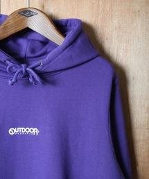 OUTDOOR PRODUCTS APPAREL(アウトドアプロダクツアパレル)のフードエンボス加工 ユニセックスサイジング フロントブランドロゴプルオーバーパーカー(パーカー)