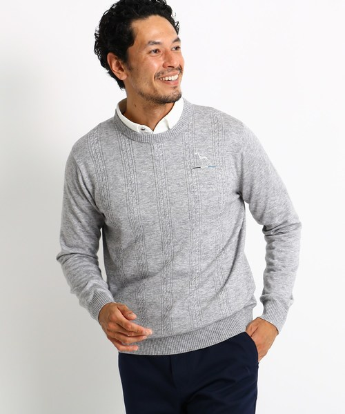 【楽ギフ_包装】 【セール】ケーブル編みクルーネックセーター(ニット STORE/セーター) adabat(アダバット)のファッション通販, 美甘村:60ebf8c3 --- pyme.pe