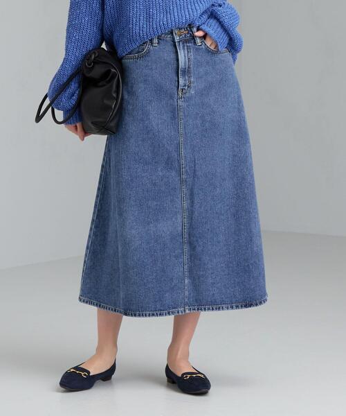 [ 別注 ] [サムシング] SC SOMETHING×GLR デニム フレア スカート