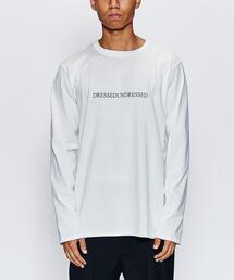 <DRESSEDUNDRESSED> LOGO LS TEE/Tシャツ