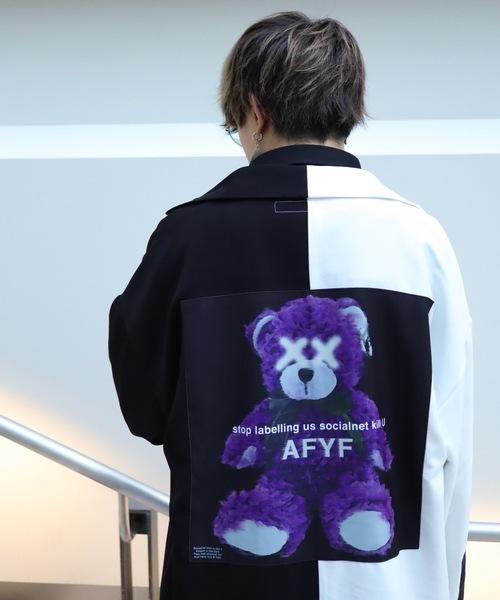 AFYF(エーエフワイエフ)の「AFYF BASIC OVERSIZEDBILINGUAL ART SHIRT/ベーシック オーバーサイズ バイリンガルアートシャツ(シャツ/ブラウス)」|ホワイト系その他