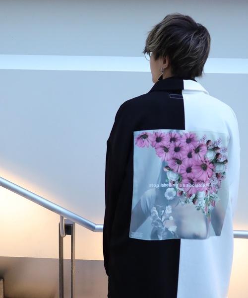 AFYF(エーエフワイエフ)の「AFYF BASIC OVERSIZEDBILINGUAL ART SHIRT/ベーシック オーバーサイズ バイリンガルアートシャツ(シャツ/ブラウス)」|ホワイト系その他3