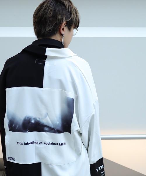 AFYF(エーエフワイエフ)の「AFYF BASIC OVERSIZEDBILINGUAL ART SHIRT/ベーシック オーバーサイズ バイリンガルアートシャツ(シャツ/ブラウス)」|ホワイト系その他4