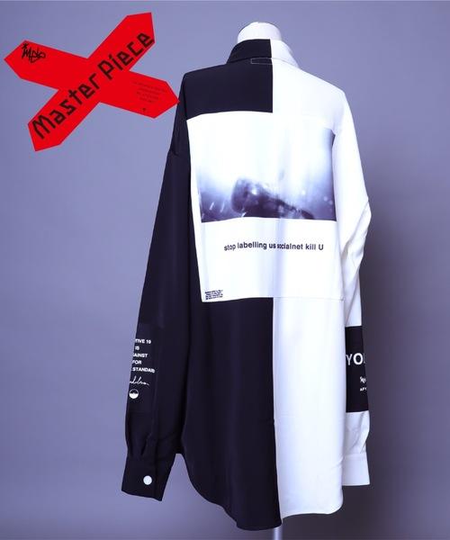 AFYF(エーエフワイエフ)の「AFYF BASIC OVERSIZEDBILINGUAL ART SHIRT/ベーシック オーバーサイズ バイリンガルアートシャツ(シャツ/ブラウス)」|詳細画像