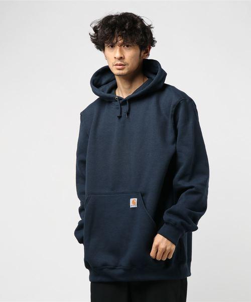 Carhartt(カーハート)の「Carhartt(カーハート) Midweight Hooded Sweatshirts フード付きスウェット(パーカー)」|ネイビー