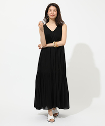 AZUL BY MOUSSY(アズールバイマウジー)のCOTTON BOIL TIRED ONEPIECE/コットンボイルティアードワンピース(ワンピース)