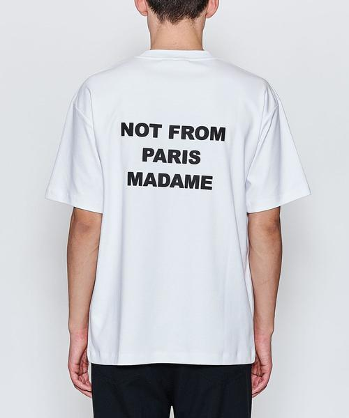 <DROLE DE MONSIEUR> BACK PRINT TEE/Tシャツ