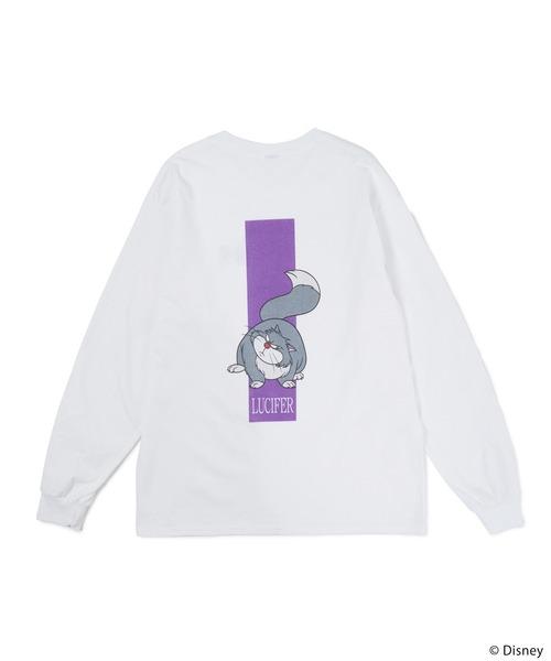 【Disney/ディズニー/プリンセス/ シンデレラ/ルシファー】ロングTシャツ