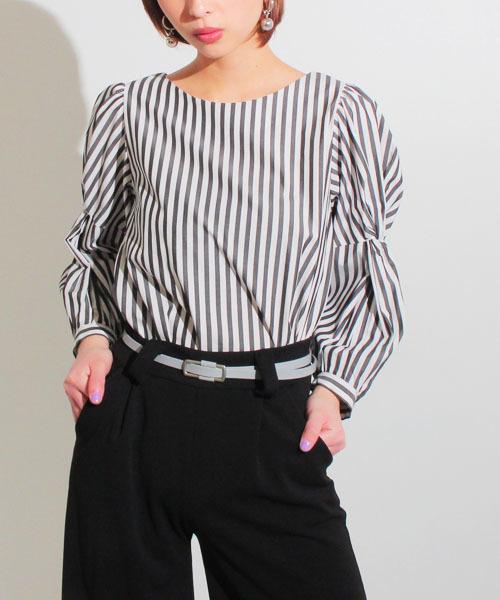 【ラッピング無料】 【セール】イタリアンストライプねじりボリュームスリーブプルオーバー(Tシャツ/カットソー)|Settimissimo(セッティミッシモ)のファッション通販, モノプロダクション:05eb15c2 --- annas-welt.de
