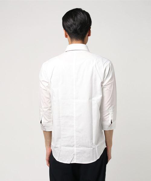 フェイクタイ7分袖シャツ 日本製 AGT