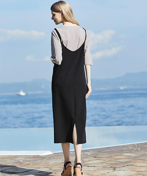 ラグランTシャツ&サロペットスカートセット