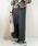 AZUL ENCANTO(アズールエンカント)の「【洗濯機で洗える】【消臭効果】ハイウエストチノワイドパンツ(その他パンツ)」|詳細画像