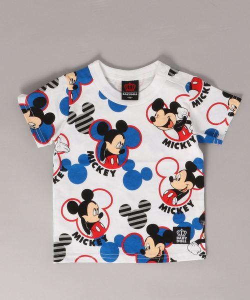 Disney(ディズニー) キャラクター 総柄 Tシャツ 2136K