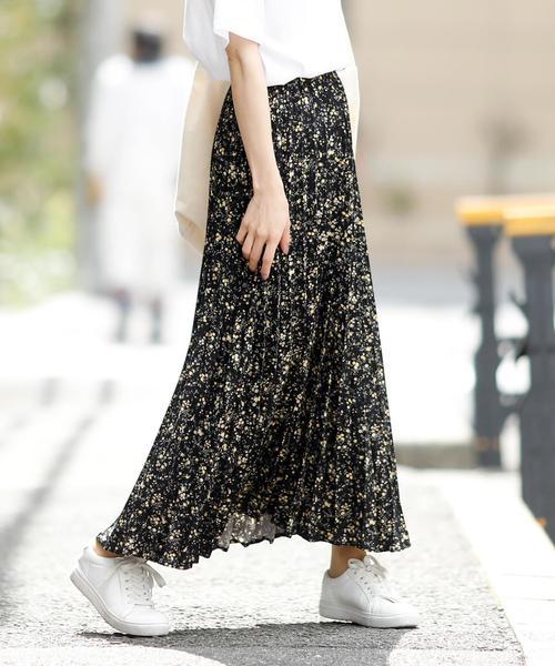 Girly Doll(ガーリードール)の「ジョーゼットロングプリーツスカート(スカート)」|ブラック系その他2